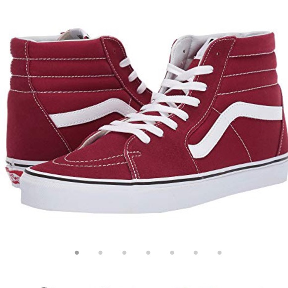 4cc5105bdc NEW Maroon Hi Top Vans Unisex size 9 W or 7.5 Men